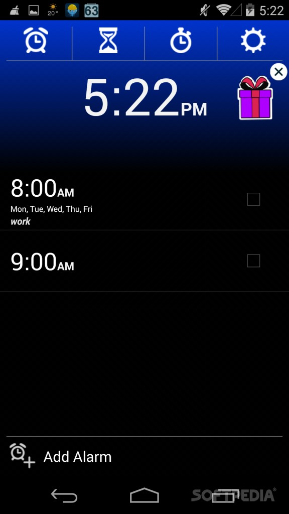 alarm code in android