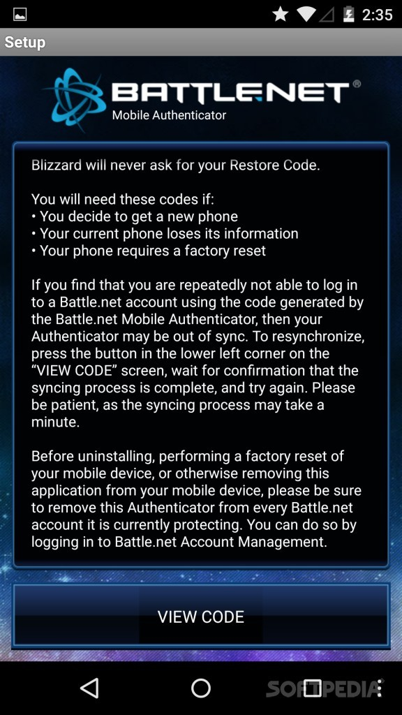 Download Battle net Mobile Authenticator for Android