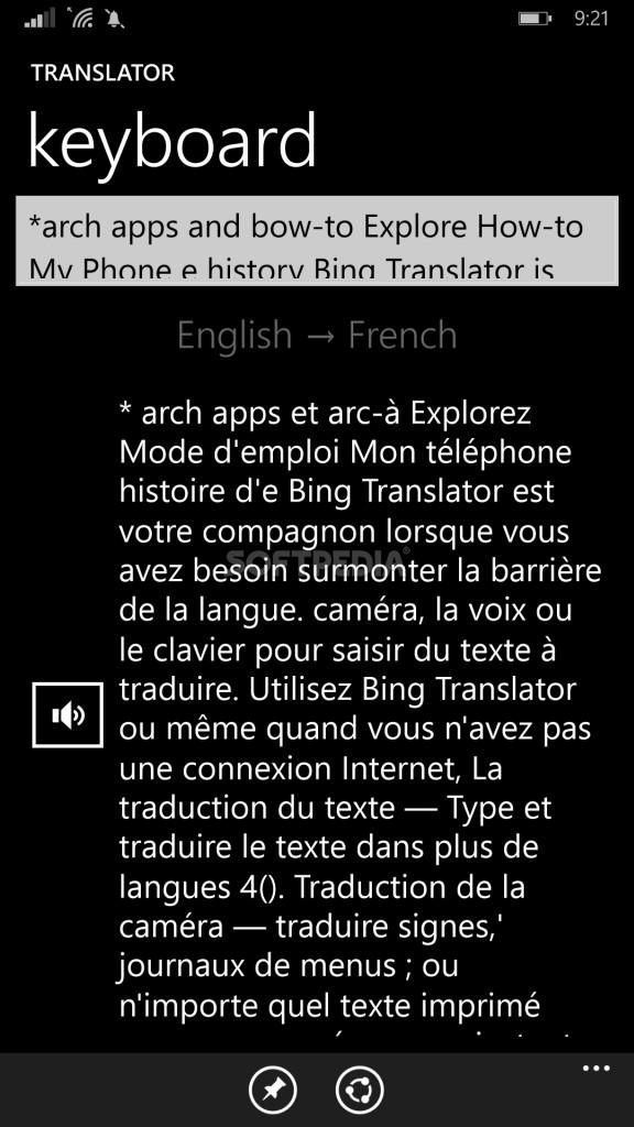 Download Bing Translator for Windows Phone