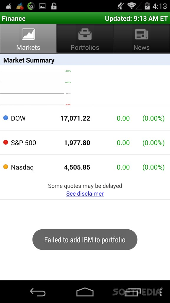 Download Google Finance for Android