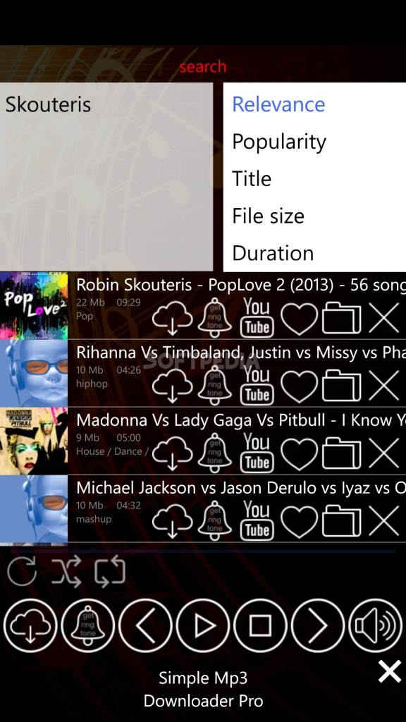 Download MP3 Music Downloader for Windows Phone