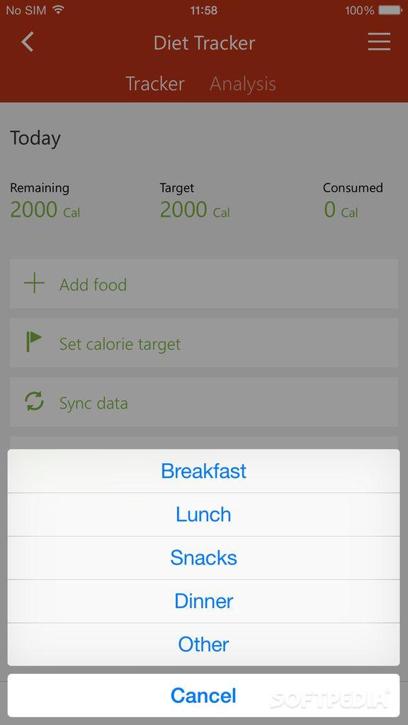 msn diet tracker