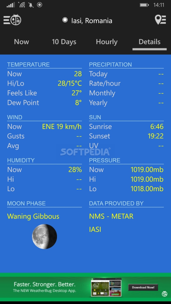 Download WeatherBug for Windows Phone