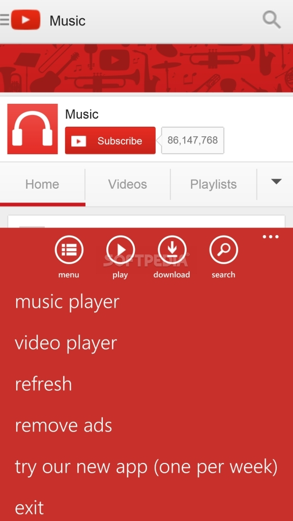 download youtube mp3 windows phone