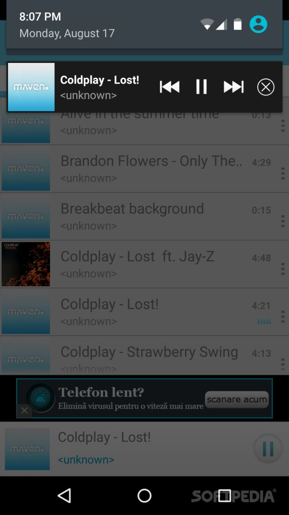 Download MAVEN Music Player (3D Sound) for Android