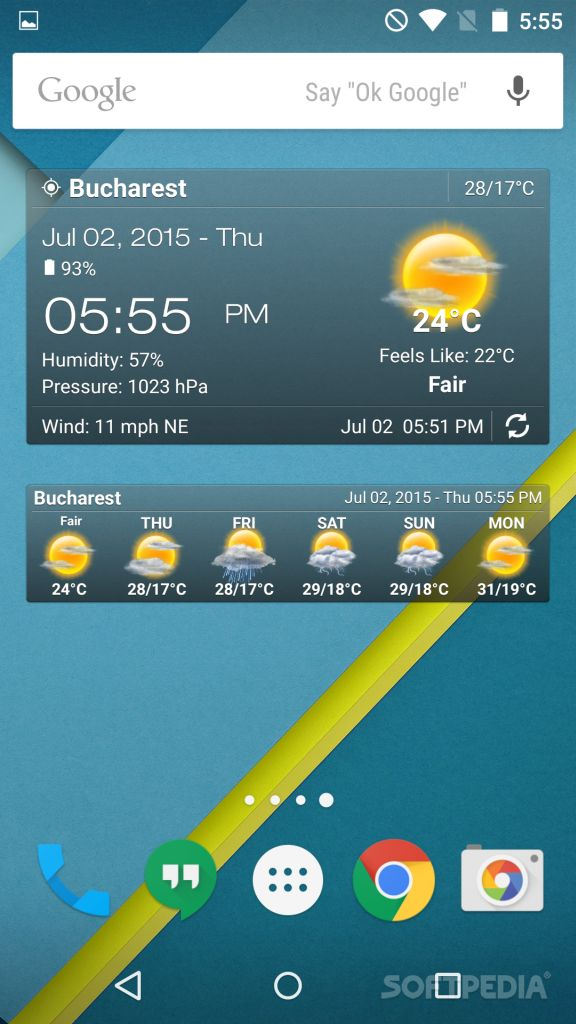 Weather Clock Widget Android